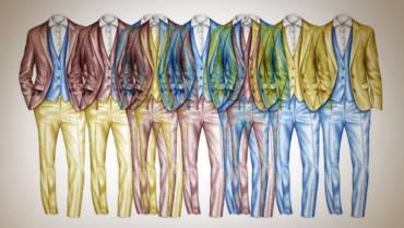 Jak nosit oblek ve stylu Spezzato